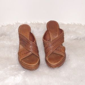 Frye Wedge Sandals- Size 6.5 B